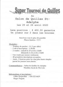 Second St-Adelphe 2020